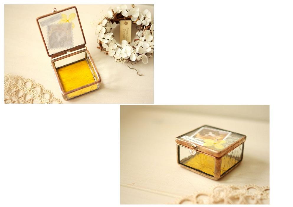 猫のステンドグラス小箱