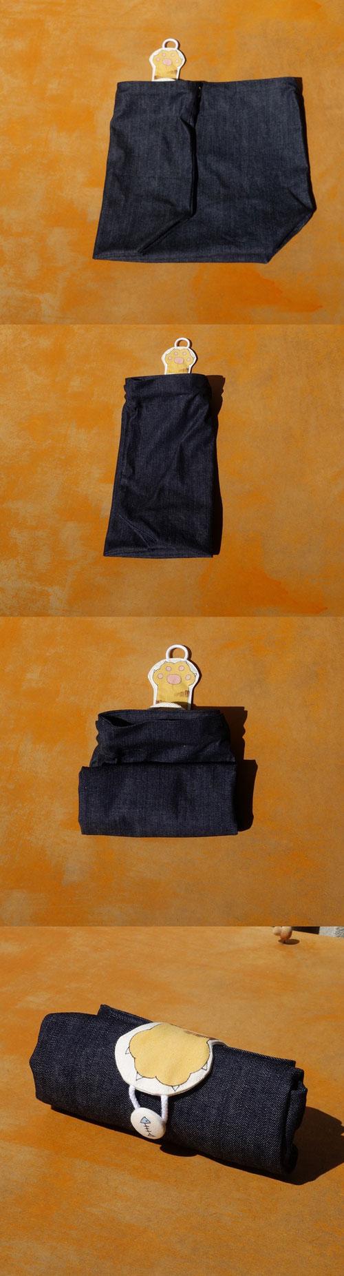 折り畳み巾着バッグ