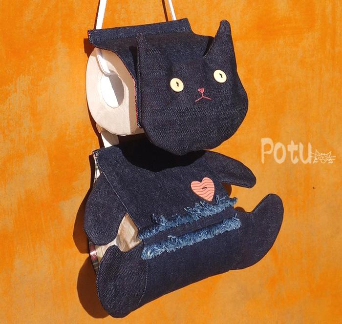 猫トイレットペーパー ホルダーカバー