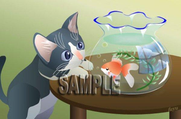 画像1: ポストカード<be my friend〜金魚編〜> (1)