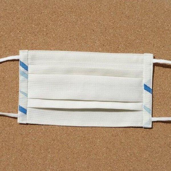 画像1: 絹マスク 絽/正絹<淡雲色>【男性用】 (1)