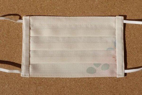 画像1: 絹マスク 絽/正絹<ファンシー萩>Mサイズ (1)