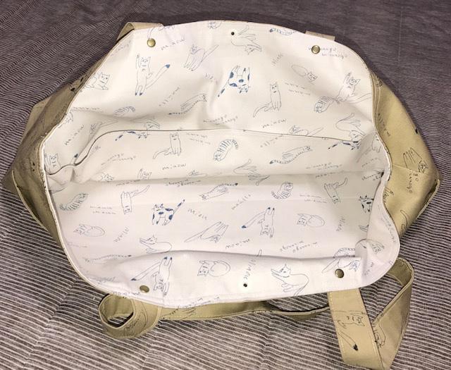 猫柄トートバッグ