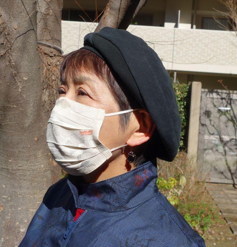 絽正絹プリーツマスク