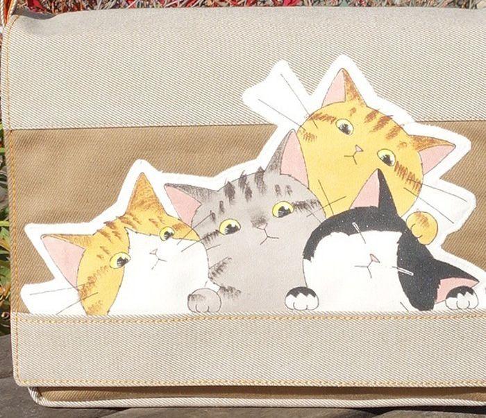 猫フラップバッグ