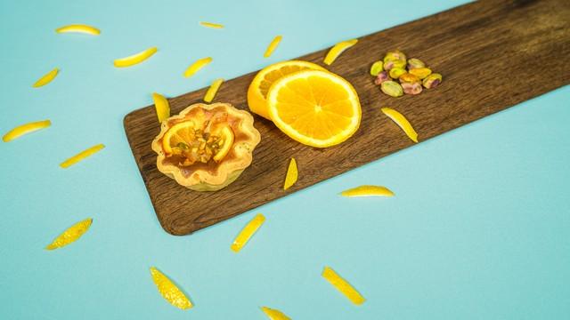 オレンジとレモンのタルト「La Fragancia」